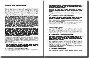 La Constitution de 1791, Constitution rationalisée