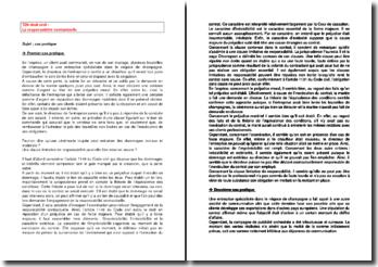 La responsabilité contractuelle - les limitations possibles et le co-contractant