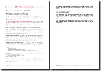 Qualification législative et jurisprudentielle du service public