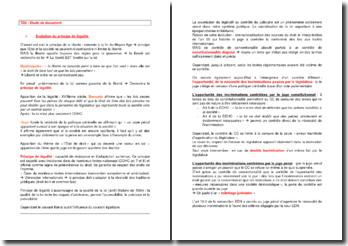 Etude de documents sur le principe de légalité