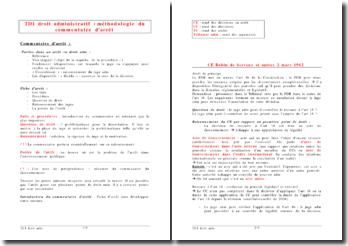 Droit administratif : méthodologie du commentaire d'arrêt