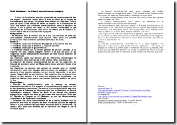 Le tribunal constitutionnel espagnol