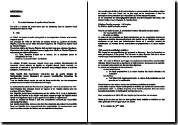 Le système fiscal français