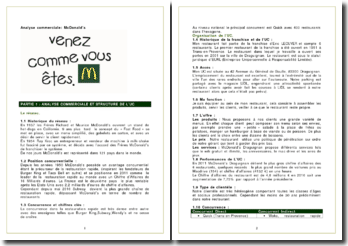 Analyse commerciale: McDonald's
