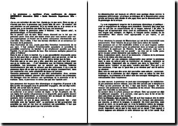 « La promesse », synthèse d'une conférence de Jacques Derrida