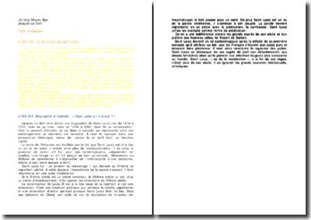 Un long Moyen Âge, p.167-172 et p.193-211 - Jacques Le Goff : Saint Louis