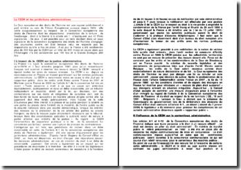 La CEDH et les juridictions administratives