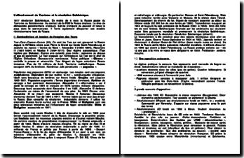L'effondrement du Tsarisme et la Révolution bolchévique