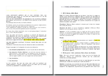 La notion d'acte administratif unilatéral - jurisprudences constitutives