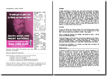 Elections Européennes Françaises de 2009: étude d'une affiche politique Française