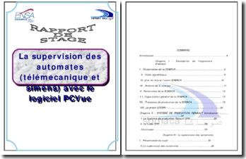 La supervision des automates (télémécanique et simens) avec le logiciel PCVue