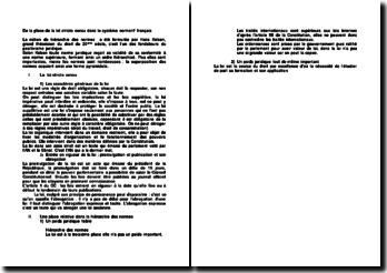 De la place de la loi stricto sensu dans le système normatif français