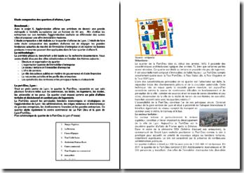 Etude comparative des quartiers d'affaires, Lyon
