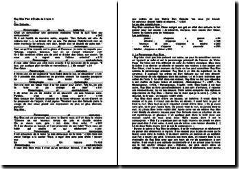 Ruy Blas: plan d'étude de l'acte 1