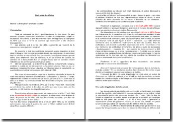 Le droit pénal des affaires: droit des sociétés et aspects pratiques de la responsablité pénale des personnes morales