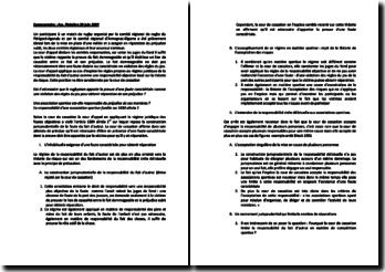 Commentaire d'arrêt de l'Assemblée Plénière de la Cour de cassation du 29 juin 2007 : la responsabilité d'une association sportive