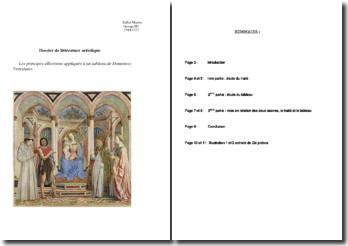 Les principes albertiens appliqués à un tableau de Domenico Veneziano