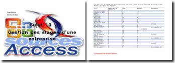 Etapes pour construire une base de données : la gestion des stages d'une entreprise