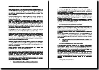 Commentaire de l'arrêt Perruche, assemblée plénière 17 novembre 2000