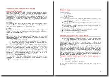 Tarifications, arrêté préfectoral du 22 mai 1970