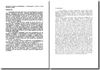 Les Confessions - Jean-Jacques Rousseau : « Il est singulier » p 217 à « à ces heures-là » p 218