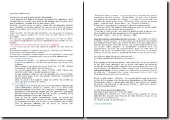 Le contrat administratif - Exceptions et modération
