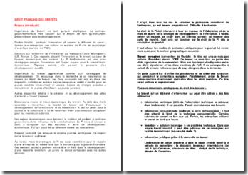 Droit français des brevets