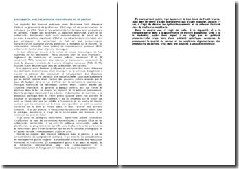 Les rapports avec les sciences économiques et de gestion