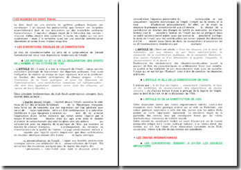 Les caractéristiques du droit fiscal français