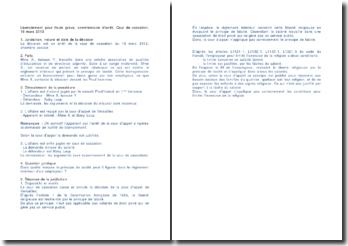 Licenciement pour faute grave, commentaire d'arrêt, Cour de cassation, 19 mars 2013