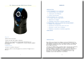 Webcam motorisée PERIXX Pericam 502 plus
