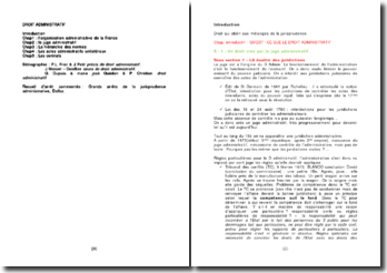 L'organisation administrative de la France