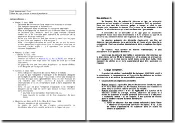 Etude de cas sur l'office du juge, la preuve et l'accord procédural