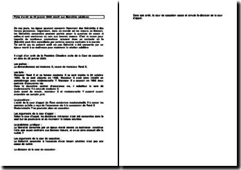 Fiche d'arrêt de la Première Chambre civile de la Cour de cassation du 25 janvier 2005 : les libéralités adultères
