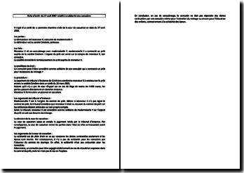 Fiche d'arrêt de la Première Chambre civile de la Cour de cassation du 27 avril 2004 : la solidarité des concubins