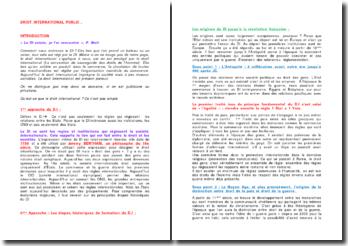 Le droit international public : application, mode de formation et les sujets de droit