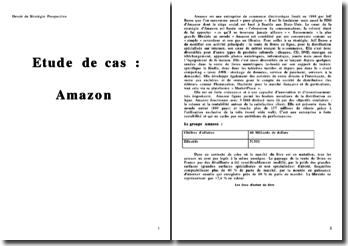 Analyse d'une entreprise de commerce électronique : le cas Amazon