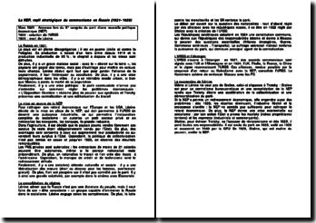 La NEP, repli stratégique du communisme en Russie (1921-1928)