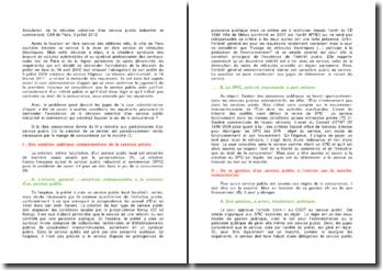 Annulation de la décision créatrice d'un service public industriel et commercial, CAA de Paris, 3 juillet 2012