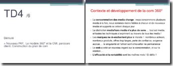 Contexte et développement de la com 360