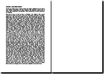 Texte d'invention sur Belle du Seigneur, chapitre LXXXVII, 1968, Albert Cohen