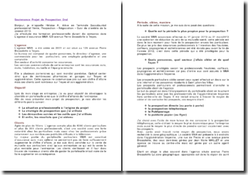 Soutenance projet de prospection: rapport oral