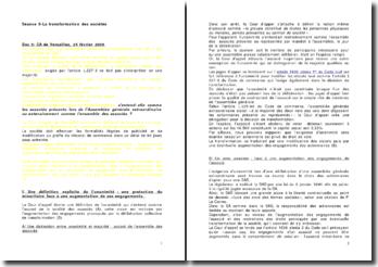 Commentaire des arrêts de la CA de Versailles du 24 février 2005 et de la Cour de cassation du 19 décembre 2006 : La transformation des sociétés