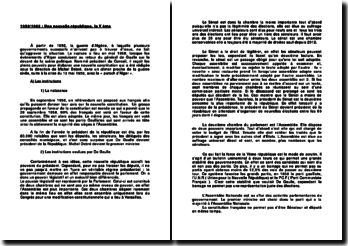 1958-1962 : Une nouvelle République, la Ve