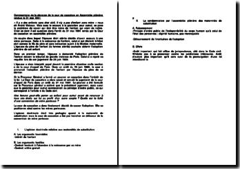 Commentaire d'arrêt de la Cour de cassation en Assemblée plénière rendue le 31 mai 1991