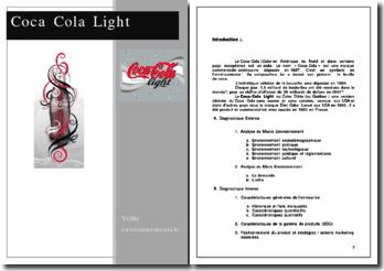 Veille environnementale: Coca Cola Light