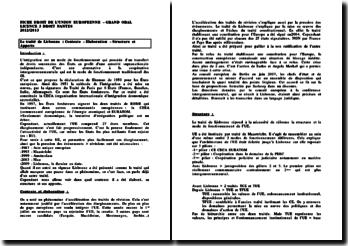 Le traité de Lisbonne : Contexte - Elaboration - Structure et Apports
