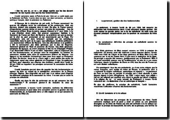 Commentaire d'arrêt rendu par le Parlement de Paris le 28 juin 1593 : l'arrêt Lemaistre