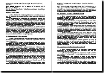 Recherche sur la Nature et les Causes de la Richesse des Nations - Adam Smith : Inégalités causées par la politique menée en Europe