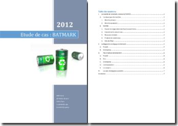 Analyse du marché de la batterie : le cas Batmark